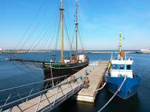 Alte Boote auf Dock Lizenzfreie Stockbilder