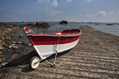 Alte Boote in Brittany France Stockfotos