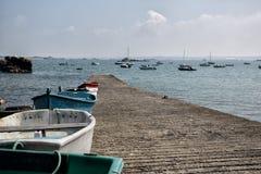 Alte Boote in Brittany France Lizenzfreies Stockfoto