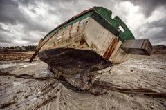 Alte Boote in Brittany France Stockbild