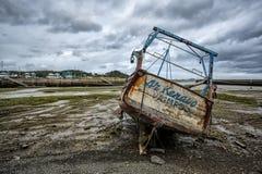 Alte Boote in Brittany France Lizenzfreie Stockbilder