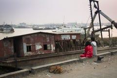 Alte Boote in Chittagong, Bangladesch Lizenzfreies Stockbild