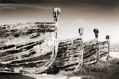 Alte Boote, die für Tuna Fishing benutzt wurden lizenzfreies stockbild