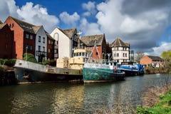 Alte Boote in Exeter Lizenzfreie Stockfotos