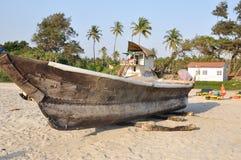 alte Boote Goa Stockfoto