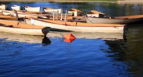 Alte Boote im Park Lizenzfreie Stockfotos