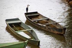 Alte Boote innerer Parkfluß Lizenzfreies Stockbild