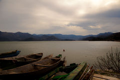 Alte Boote, Montenegro Stockfotografie