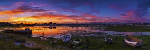 Alte Boote in Poole-Hafen Lizenzfreie Stockfotografie