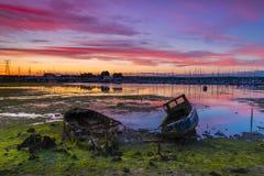 Alte Boote in Poole-Hafen Lizenzfreie Stockbilder