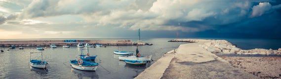 Alte Boote, südlich von Italien Stockbild