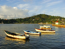 Alte Boote an Samana-Hafen Lizenzfreies Stockbild