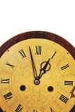 Alte Borduhr auf einem weißen Hintergrund Stockbild