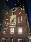 Alte Boston-Staatshalle Stockfotos