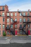 Alte Boston-Wohnungen Lizenzfreies Stockbild