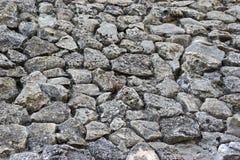 Alte Boulder-Wand Lizenzfreies Stockbild