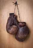 Alte Boxhandschuhe Stockfotos