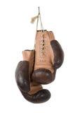 Alte Boxhandschuhe der Weinlese Lizenzfreie Stockfotos