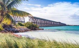 Alte Brücke auf Schlüssel-Inseln, FL Stockfoto