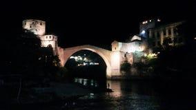 Alte Brücke, bosnische Stadt von Mostar Lizenzfreie Stockfotos