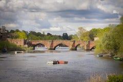 Alte Brücke Chester stockbild