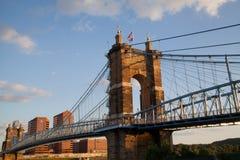 Alte Brücke in Cincinatti Stockfoto