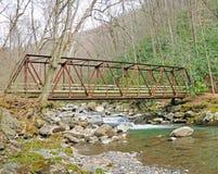 Alte Brücke in den smokies Stockbilder
