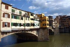 Alte Brücke in Florenz Stockbild