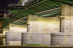 Alte Brücke im Detail Bratislava, Slowakei Stockfoto