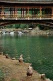 Alte Brücke im Porzellan Stockfotografie