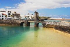 Alte Brücke in Lanzarote Lizenzfreie Stockfotografie
