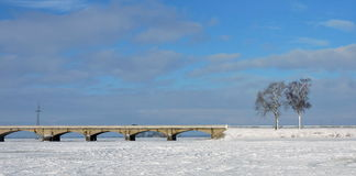 Alte Brücke, Litauen Stockbilder