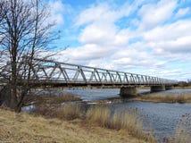 Alte Brücke, Litauen Lizenzfreie Stockfotos