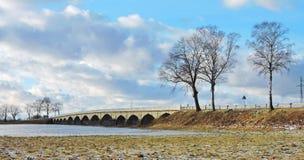 Alte Brücke, Litauen Lizenzfreie Stockfotografie