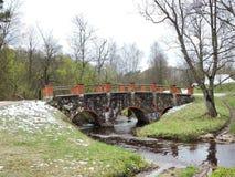 Alte Brücke, Litauen Lizenzfreies Stockfoto