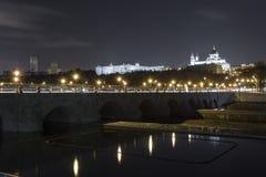 Alte Brücke Madrids Stockbilder