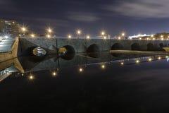 Alte Brücke Madrids Stockfoto