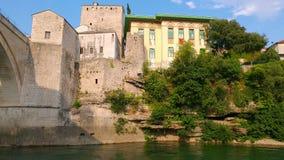 Alte Brücke, Mostar, Bosnien-Herzegowina stock footage
