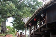 Alte Brücke in Vietnam Lizenzfreies Stockbild