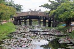 Alte Brücke in Vietnam Stockfoto