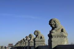 Alte Brücke von China Lizenzfreies Stockbild
