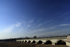 Alte Brücke von China Lizenzfreie Stockfotografie