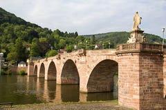 Alte Brücke von Heidelberg, Deutschland Stockfoto