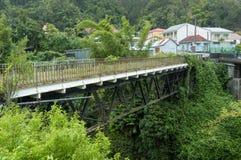 Alte Brücke von Salazie auf La Reunion Island, Frankreich Lizenzfreie Stockbilder