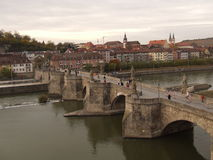 Alte Brücke in Würzburg Lizenzfreies Stockbild