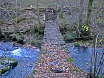 Alte Brücke zu Leiroso, EL Bierzo lizenzfreie stockfotografie