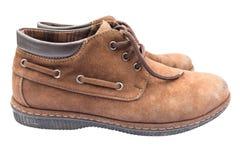 Alte braune Schuhe Lizenzfreies Stockbild
