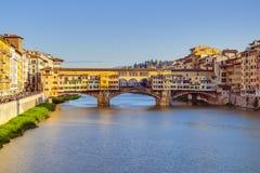 Alte Brücke in Florenz, Italien Stockfoto