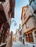 Alte bretonische Stadt Vitre, Frankreich der Straße Lizenzfreie Stockfotos