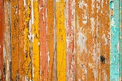 Alte Bretter gemalt in den hellen Farben stockbild